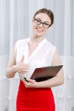 Portrait of a woman psychologist Royalty Free Stock Photo