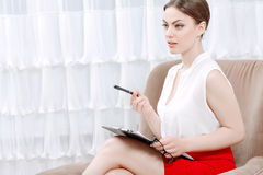 Portrait of a woman psychologist Royalty Free Stock Image