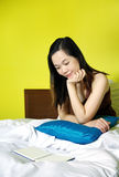 Portrait of woman reading a book Royalty Free Stock Photo