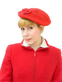 Portrait of woman in red Royalty Free Stock Photography
