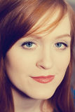 Portrait of woman with red hair Stock Photography