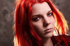 Portrait of a woman with red hair Stock Photography
