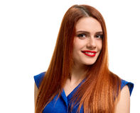 Portrait woman with red hair Royalty Free Stock Photos