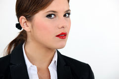 Portrait of woman's face Stock Photography