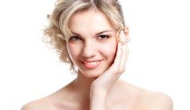 Portrait of a woman's face Stock Image