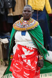 Portrait of the woman from the Samburu tribe in Kenya Stock Photography