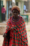 Portrait of the woman from the Samburu tribe in Kenya Stock Images