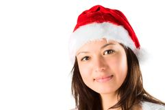 The portrait of the woman santa, it smiles to you Royalty Free Stock Photo