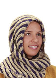 Portrait of a woman with a scarf Stock Photos