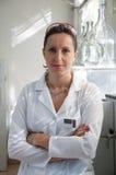 Portrait of woman scientist Stock Photos