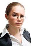 Portrait of a woman show suspicion Stock Photos