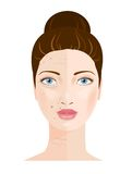 Portrait of woman. Skin care. Vector Royalty Free Stock Photo