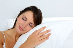 Portrait of woman sleeping Royalty Free Stock Images