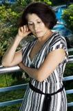 Portrait of the woman smokes Royalty Free Stock Photos
