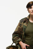 Portrait of a woman soldier Royalty Free Stock Photos