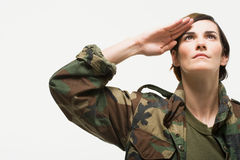 Portrait of a woman soldier Royalty Free Stock Image