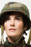 Portrait of a woman soldier Royalty Free Stock Photo