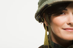 Portrait of a woman soldier Stock Photo