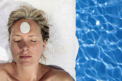 Portrait of a woman at a Spa Stock Photo