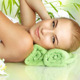 Portrait of a woman at spa Stock Photos