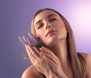 Portrait of woman at spa Stock Photography