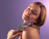 Portrait of woman at spa Royalty Free Stock Photography
