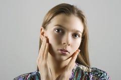 Portrait of woman in studio Stock Image