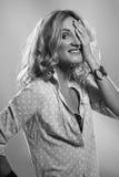 Portrait of woman in studio Royalty Free Stock Photos