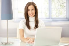 Portrait of woman in study Royalty Free Stock Photography