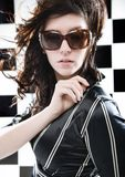 Portrait Of A Woman With Sunglasses Royalty Free Stock Photos