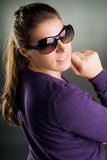 Portrait of a woman with sunglasses Royalty Free Stock Photography
