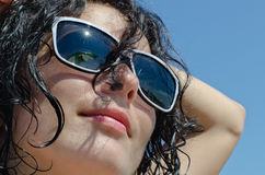 Portrait of a woman in sunglasses Royalty Free Stock Images