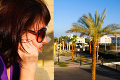 Portrait of a woman in sunglasses Stock Photography