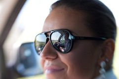Portrait of woman with sunglasses Stock Photo