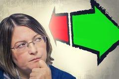 Portrait of woman thinking Stock Image