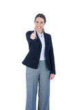Portrait of a woman with thumbs up Royalty Free Stock Photos