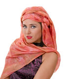 Portrait of woman in a turban Stock Photos