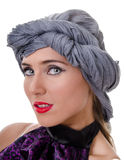 Portrait of woman in a turban Stock Image