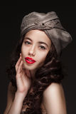 Portrait of a woman in turban Royalty Free Stock Photography