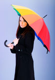 Portrait of woman with umbrella Royalty Free Stock Images