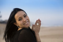 Portrait woman. In ummer time Stock Photo