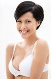 Portrait of woman in underwear Stock Photos