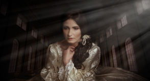 Portrait of woman in vintage dress Royalty Free Stock Images