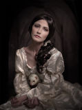 Portrait of woman in vintage dress Royalty Free Stock Image