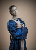 Portrait of woman in vintage dress Stock Photos