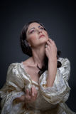 Portrait of woman in vintage dress Stock Photography