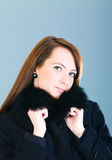 Portrait of a woman wearing coat Stock Photography
