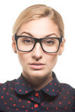 Portrait of a woman wearing glasses Royalty Free Stock Photography