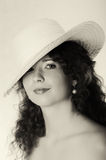 Portrait of woman wearing a hat Royalty Free Stock Photo