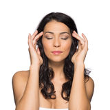 Portrait Of A Woman Who Meditates Royalty Free Stock Images